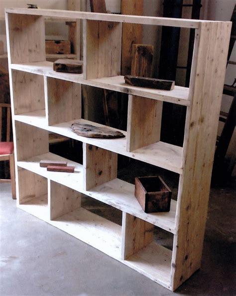 shelving unit room divider reclaimed wooden future rustic room divider shelving