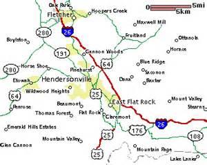 flat rock carolina map henderson county