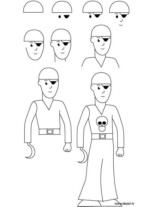 dessiner un bateau pirate facile dessin pirate