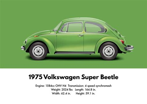 volkswagen supercar 1975 volkswagen superbeetle viper green metallic by