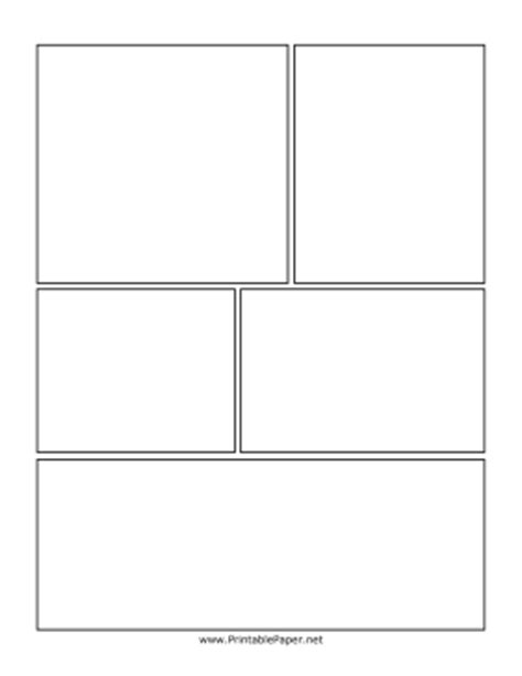 comic template pdf printable staggered box comic page