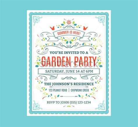garden invitation template 13 printable psd garden invitation templates