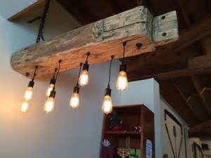 Kitchen Island Table Combination Rustic Wood Light Fixture With Reclaimed Beam Id Lights