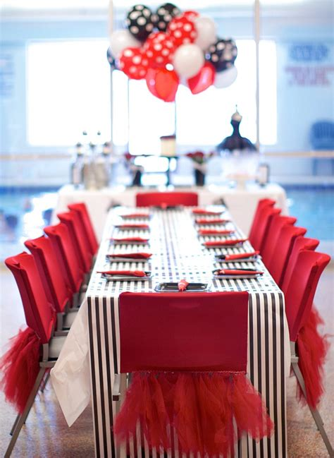 black white red birthday party guest feature