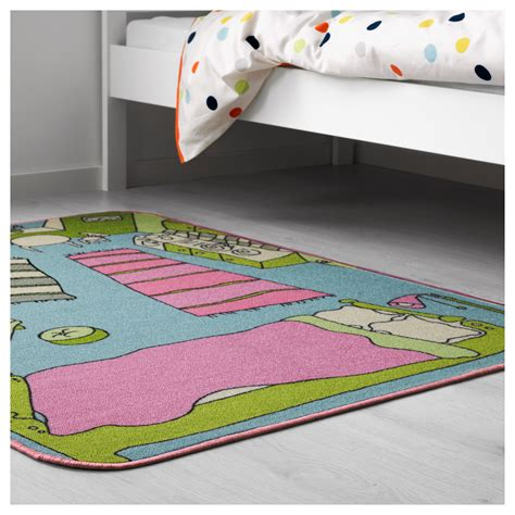 ikea play rug rummet rug low pile multicolour 100x133 cm ikea