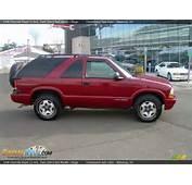 1998 Chevrolet Blazer LS 4x4 Dark Cherry Red Metallic / Beige Photo 1