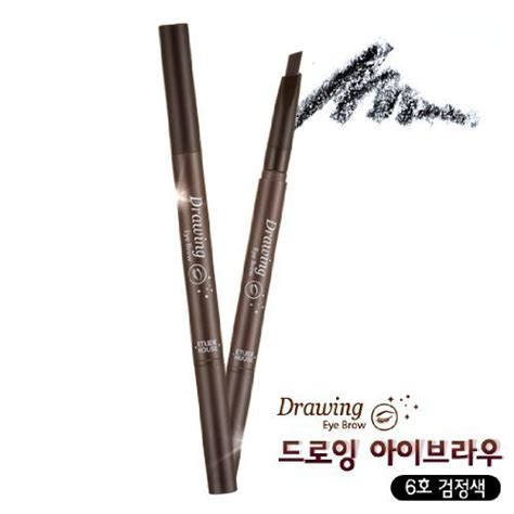 Etude House Drawing Eyebrow No 6 etude house drawing eye brow 6 black toolfanatic