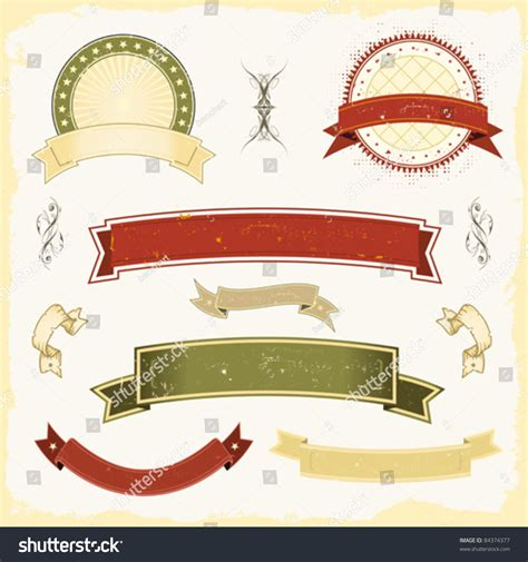 banner shutterstock grunge banner set illustration collection design stock