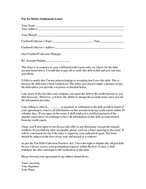 and settlement offer letter template 9 best images of settlement letter sle debt