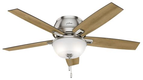low noise ceiling fans 52 quot brushed nickel chrome ceiling fan donegan low