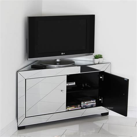 corner media cabinets flat screen tvs corner tv stand with mount mountit universal silver 3 way