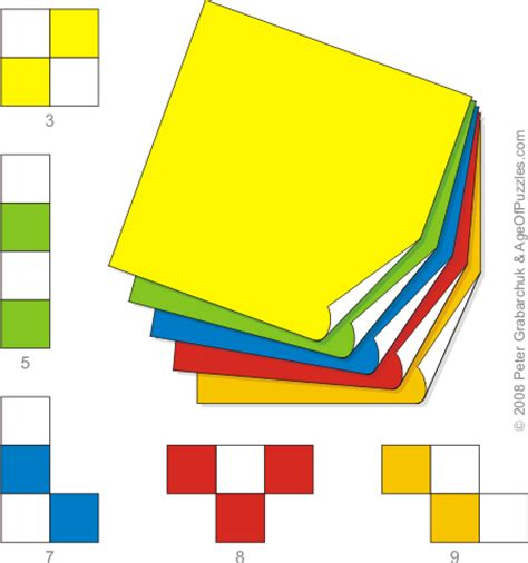 Checkered Origami - age of puzzles checkered tetramino origami