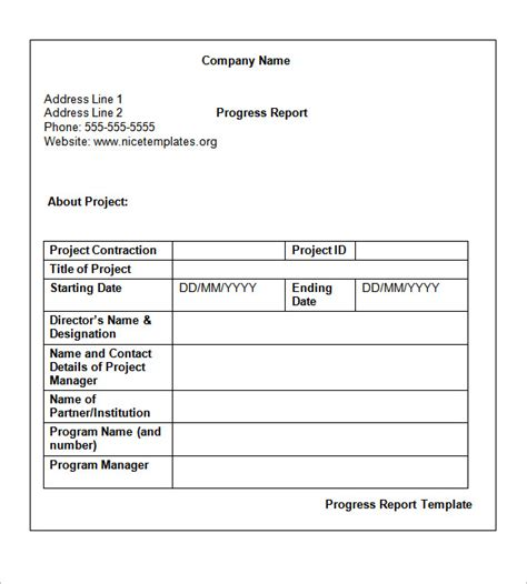 weekly work progress report template weekly report template cyberuse