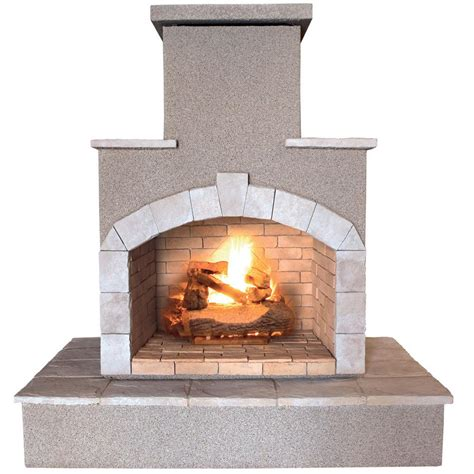 Cal Flame 78 in. Propane Gas Outdoor Fireplace FRP908 3 1