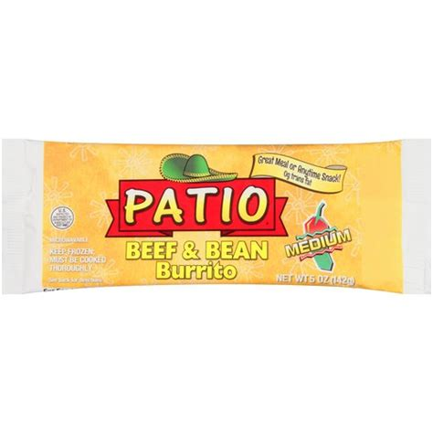 patio medium beef been burrito 5 oz walmart