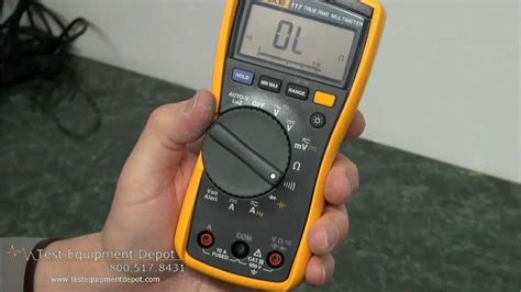 Multitester Fluke 117 fluke 117 electrician s multimeter with non contact voltage detector