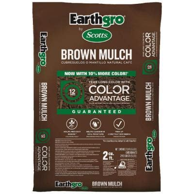 scotts earthgro 2 cu ft brown mulch