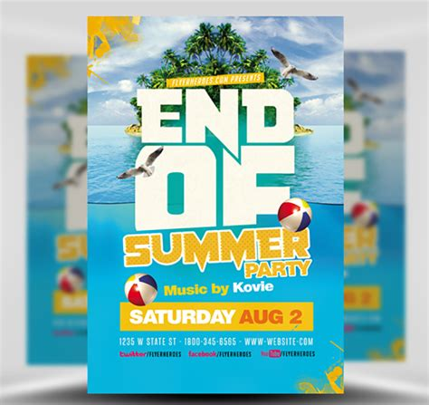 End Of Summer Flyer