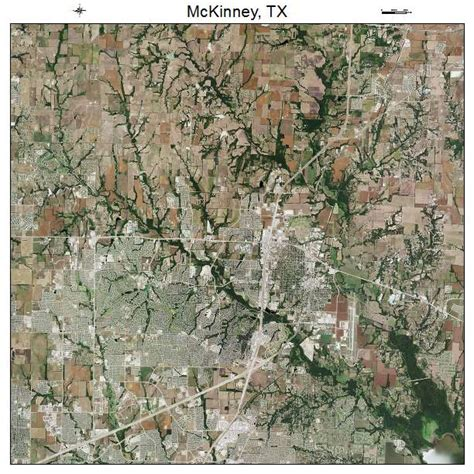 mckinney texas map aerial photography map of mckinney tx texas