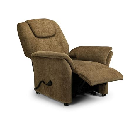 Rise Recliner Chairs by Reva Cappuccino Chenille Rise Recliner Chair