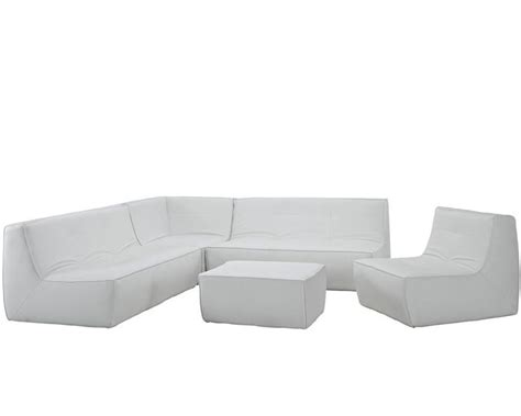 5 piece leather sectional sofa modway align 5 piece leather sectional sofa in white my