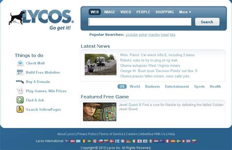 Lycos Search Lycos Is Looking To Sell Its Search Patents And Yes