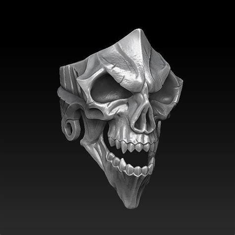 jewellerychallenge  printable model skull ring cgtrader