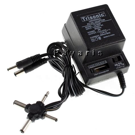 Adaptor Dc ac dc universal power adapter output 1 5v to 12v 6 plugs selection 110 220v volt ebay