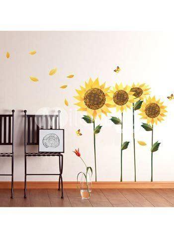 sunflower wall decal el cuarto de la bebe girasoles