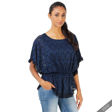 Tunic Boho Blouse Zeleka womens oversize boho lace blouse top ruffle sleeve tunic summer shirt