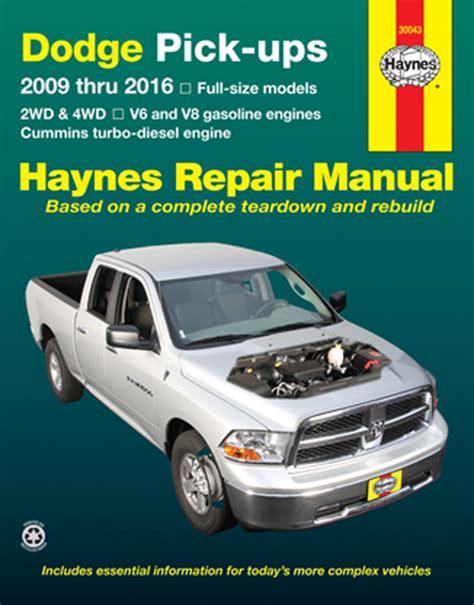 how to download repair manuals 2009 dodge ram 2500 instrument cluster dodge ram haynes repair manual 2009 2016 hay30043