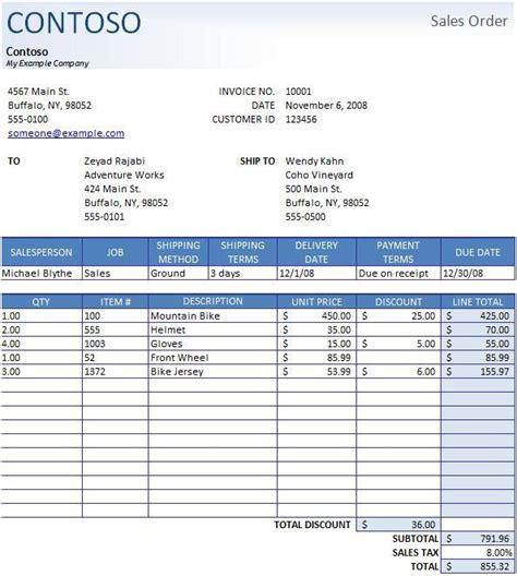 Best Sales Order Templates Easyerp Open Source Erp Crm Sales Order Template