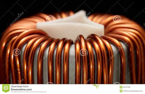 inductor in detail inductor detail royalty free stock images image 36767569
