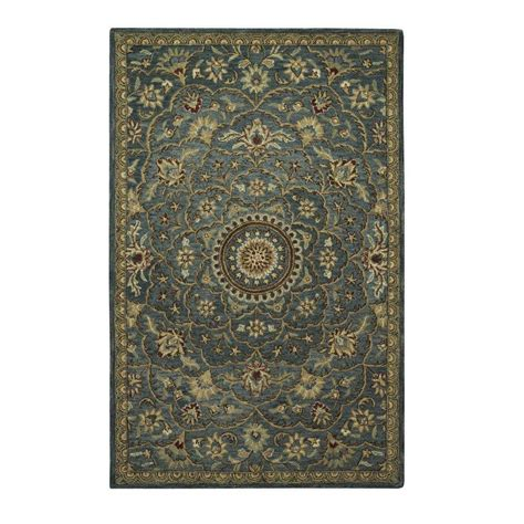 Peacock Area Rug Home Decorators Collection Rotunda Peacock 6 Ft X 9 Ft Area Rug 1597930330 The Home Depot