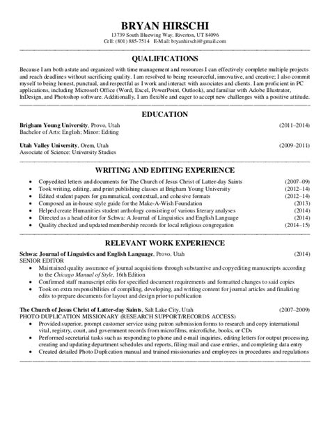 Writing and Editing Resume 2-21-15