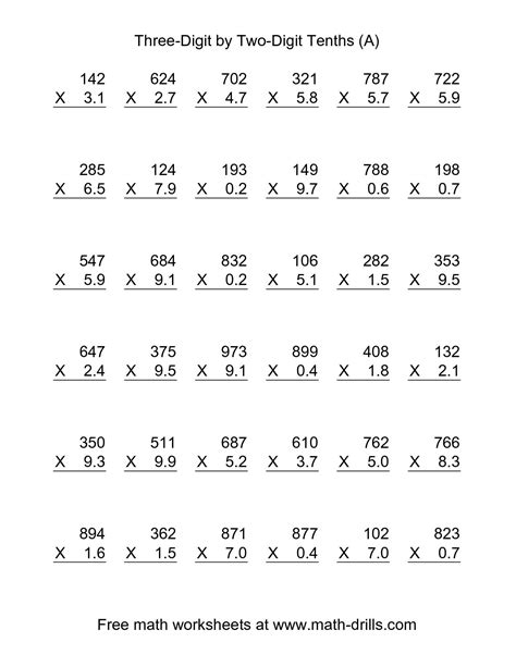 Multiplying Fractions By Whole Numbers Worksheet by 28 Multiplying Whole Numbers By Decimals Worksheet
