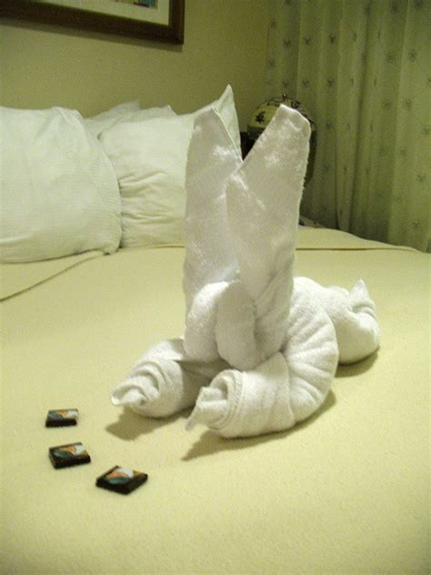 Origami Towel Folding - 17 best images about cruise ship towel folding towel
