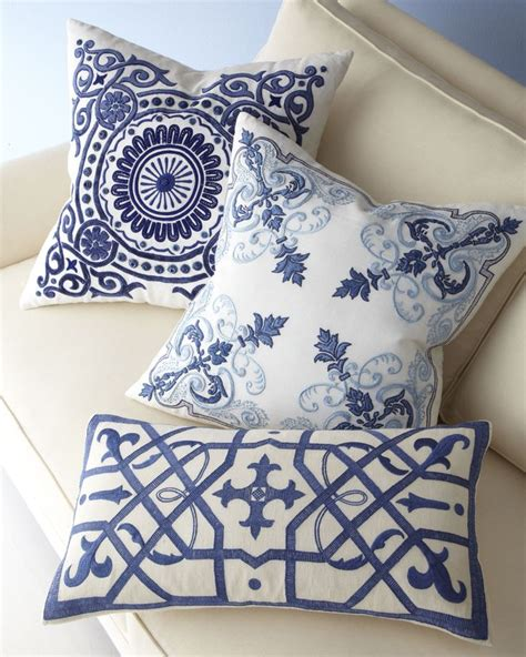 Blue And White Decorative Pillows Blue And White Pillow Collection