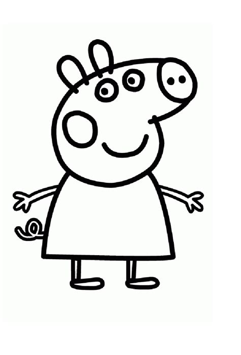 colouring pictures of peppa pig and george peppa pig george peppa pig coloring pages