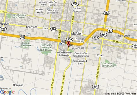 where is mcallen texas on the map map of fairfield inn and suites by marriott mcallen mcallen