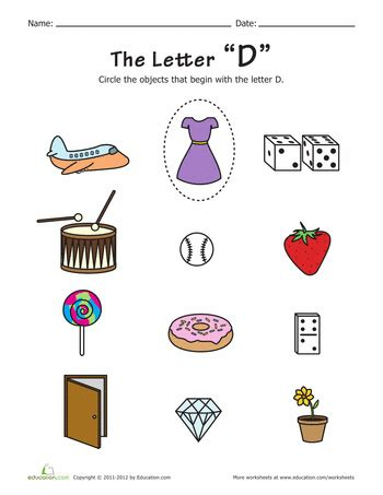 5 Letter Words Yearly things with the letter d coloring page ideas