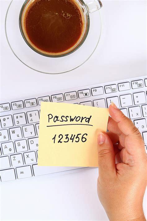 password   sticker   note   white desktop