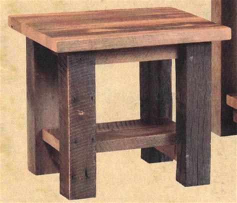 up to 33 almanzo end table in reclaimed barnwood