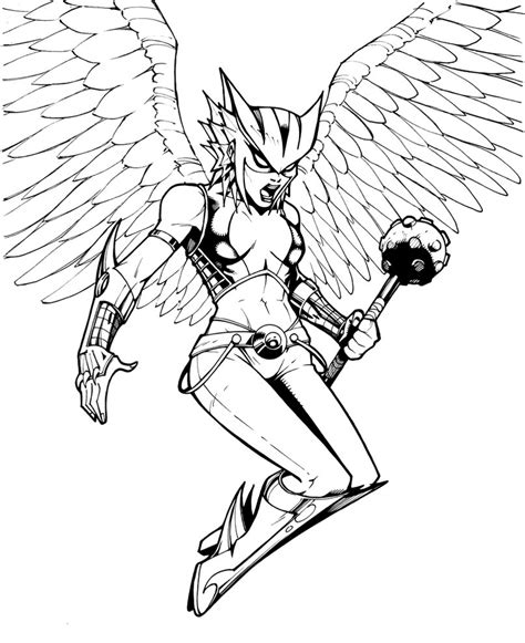 hawkgirl by olivernome on deviantart