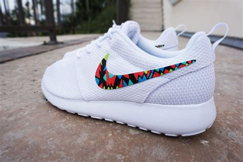 tribal pattern nike roshe womens custom nike roshe run sneakers white on white nike