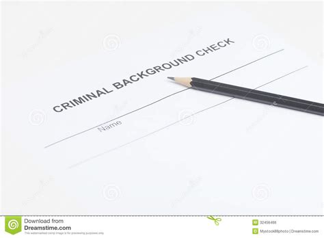 No Criminal Background Check Criminal Background Check Up Of Criminal Background Check Royalty Free Stock