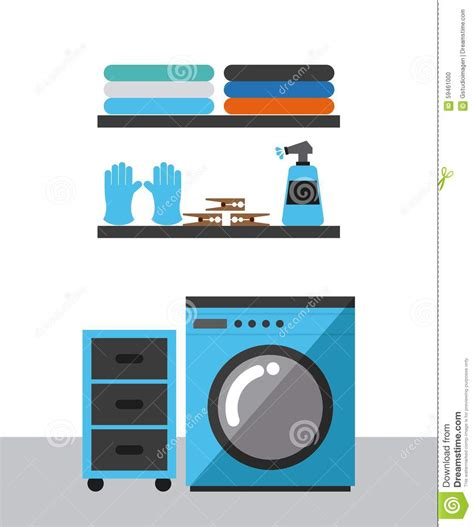 laundry graphic design laundry service stock vector image 59461000