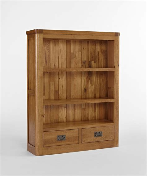 Small Bookcase With Drawers Dalmore Solid Oak Bedroom Furniture Small Bookcase With