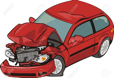wrecked car clipart crash clipart smashed car pencil and in color crash
