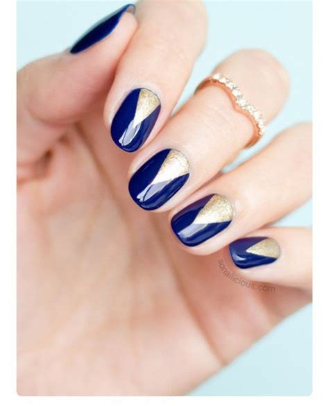 Nail Accessories by Nail Accessories Navy Blue Navy Nail Nails Gold